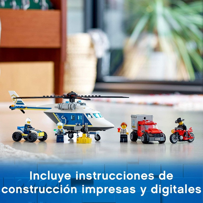 Lego City 60243-Persecución con helicóptero de la policía-helicóptero imán